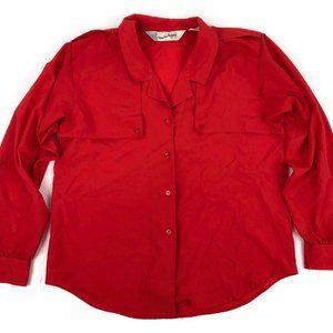Vintage Diane Von Furstenberg Button-Front Blouse